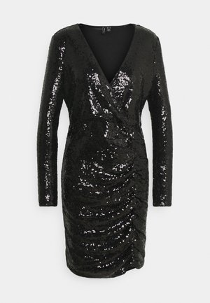 VMRIVER SEQUINS SHORT DRESS - Cocktailkjoler / festkjoler - black