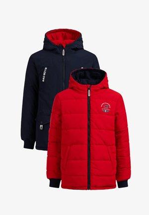 REVERSIBLE - Winter jacket - dark blue/red