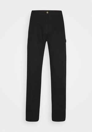 RUCK SINGLE KNEE PANT DEARBORN - Kangashousut - black rinsed