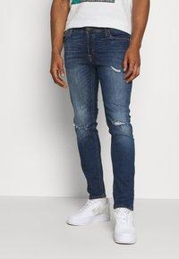 Jack & Jones - JJIGLENN JJORIGINAL AGI - Slim fit jeans - blue denim - 0