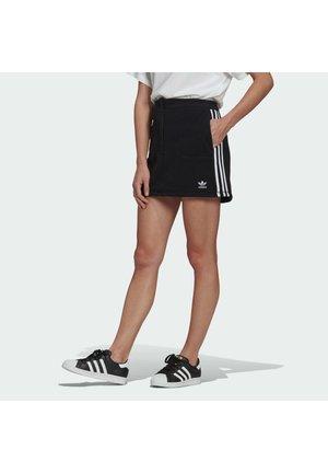 FLEECE  - Mini skirt - black