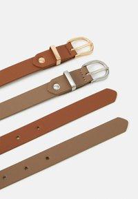 Anna Field - 2 PACK - Belt - taupe/cognac - 1