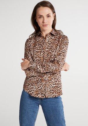 MODERN CLASSIC SLIM FIT - Overhemdblouse - beige/braun