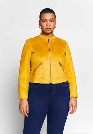 VMSUMMERSIV SHORT - Faux leather jacket - amber gold