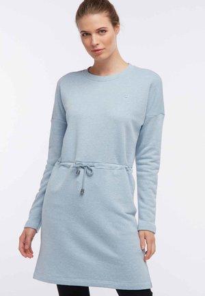 Day dress - mottled light blue