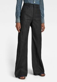 G-Star - DECK ULTRA HIGH - Flared Jeans - pitch black - 0
