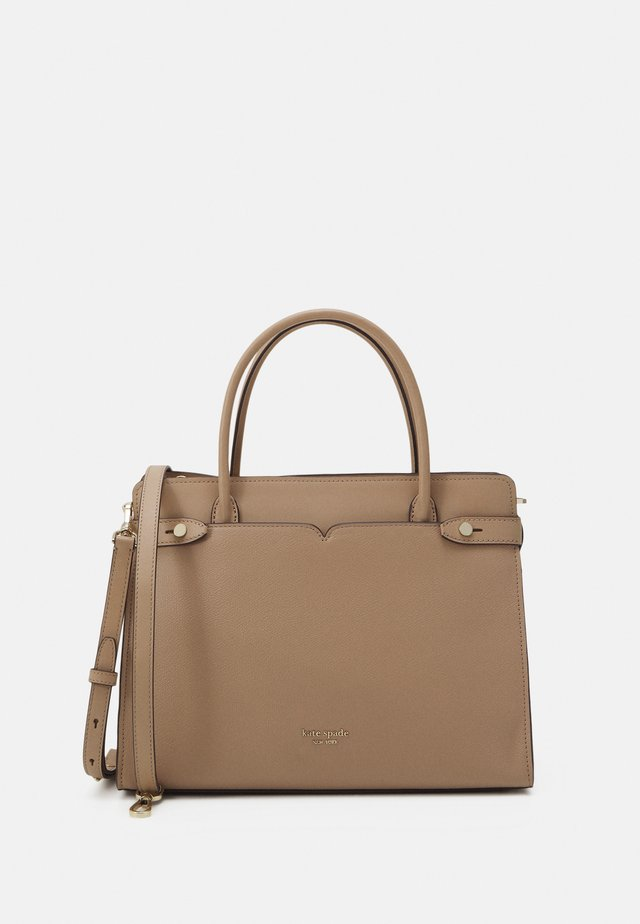 LARGE SATCHEL - Handväska - raw pecan