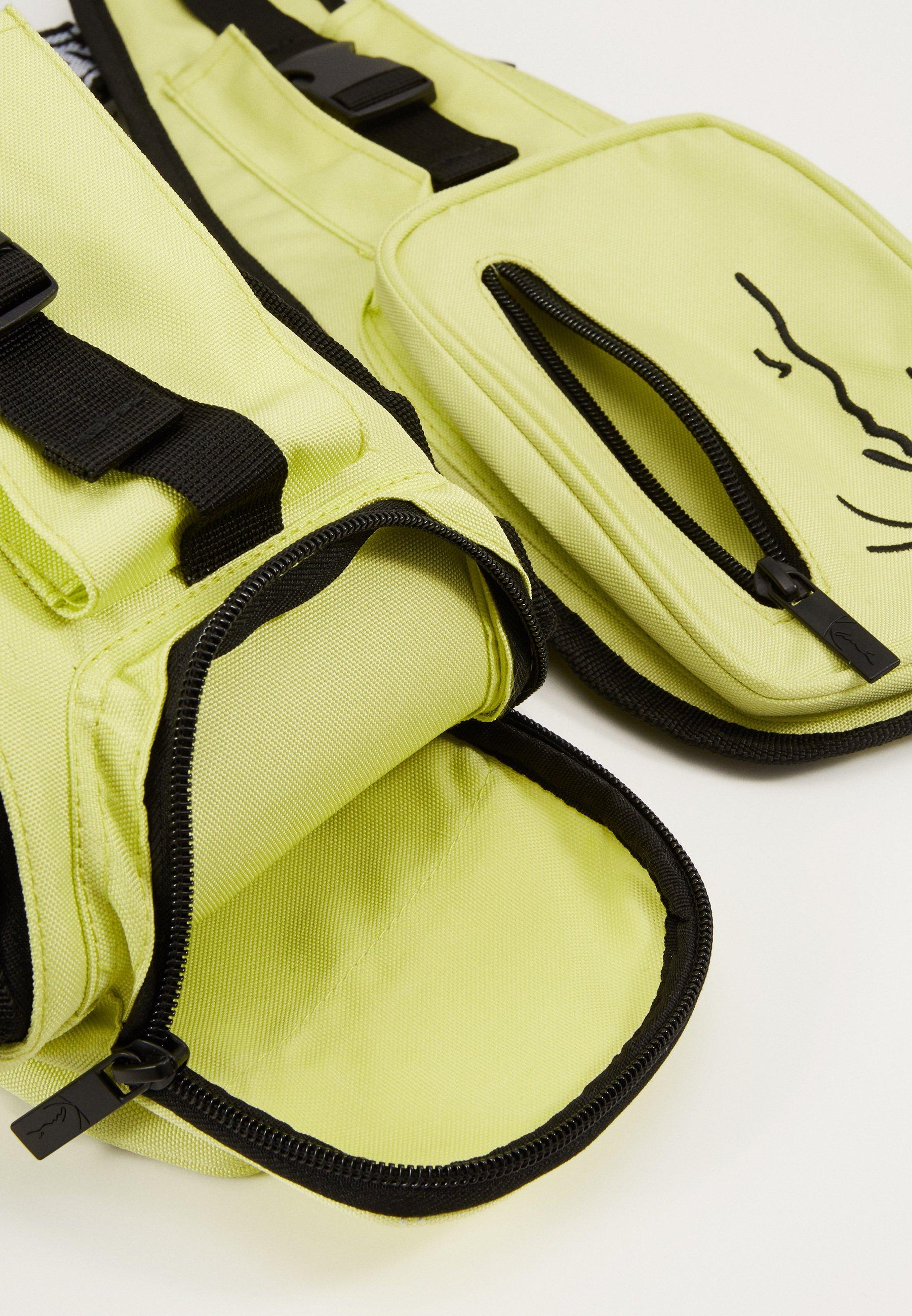 Karl Kani TAPE UTILITY VEST BAG - Rumpetaske - yellow/gul dyAuoESUnJlyF9L