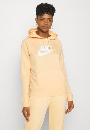 HOODIE - Luvtröja - orange chalk/white