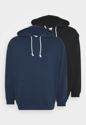 2 PACK - Sweat à capuche - dark blue/black
