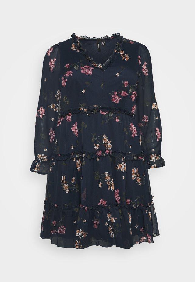 VMWONDA FRILL SHORT DRESS - Sukienka letnia - navy blazer/sallie