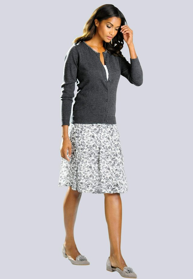 A-line skirt - weiß,grau