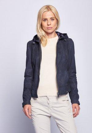 DONIE - Leather jacket - dark blue