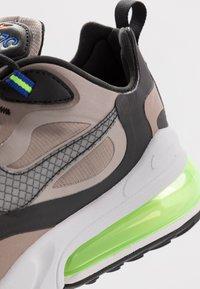 Nike Sportswear - AIR MAX 270 REACT WTR - Sneaker low - sepia stone/black/moon particle/vast grey/electric green/total orange - 5