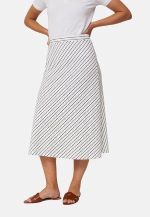 A-linjekjol - white blue stripe