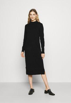 VIRIL MIDI DRESS - Gebreide jurk - black