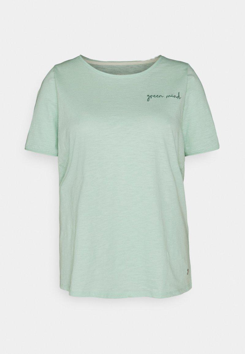MY TRUE ME TOM TAILOR - FRONT ARTWORK - Print T-shirt - pale mint