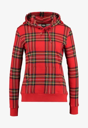 LADIES HOODY - Mikina s kapucí - red/black
