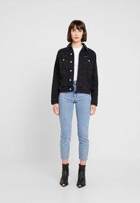 Calvin Klein Jeans - REVERSED LOGO MODERN SLIM TEE - Print T-shirt - bright white - 1