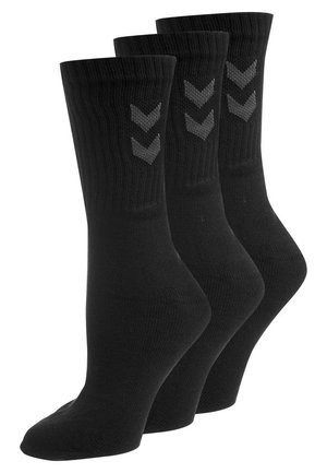 BASIC 3 PACK - Sportsstrømper - black