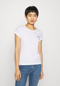 Abercrombie & Fitch - 5 PACK - T-shirt basic - white/black/pink/olive/navy - 3