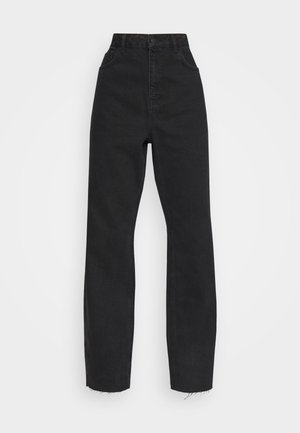 RAW HEM HIGH RISE  - Jeans relaxed fit - black
