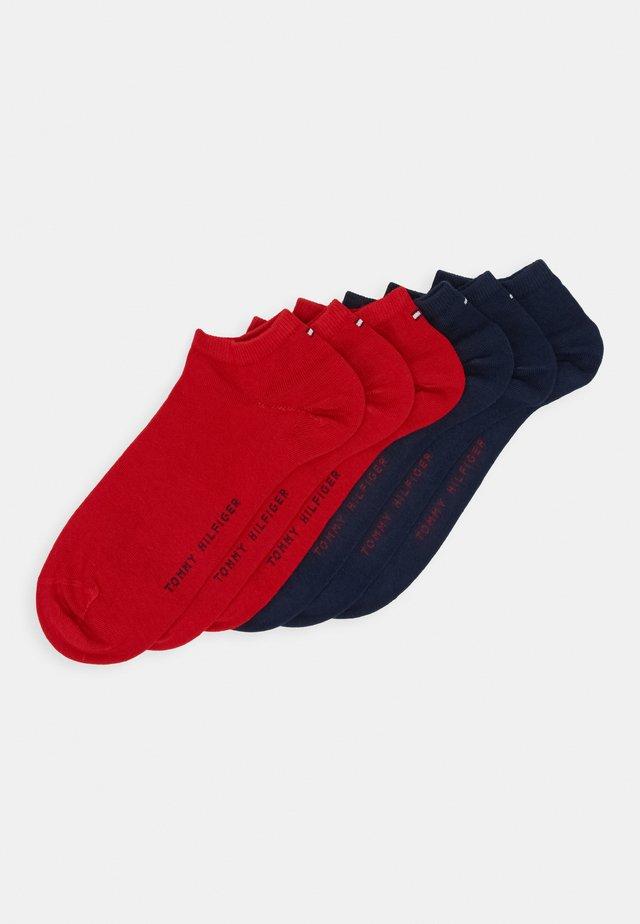 QUARTER 6 PACK - Socks - blue/red