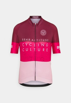 EVY BIKE  - T-Shirt print - burgundy