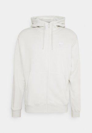 CLUB HOODIE - veste en sweat zippée - light bone/white