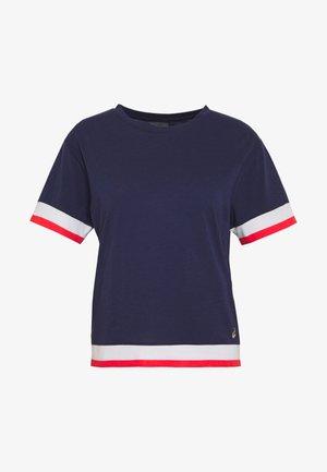 TOKYO TRAIN TOP - Print T-shirt - peacoat/brilliant white
