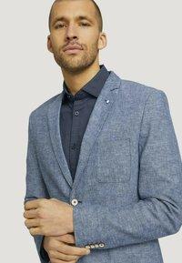 TOM TAILOR - Blazer jacket - woven blue melange - 3