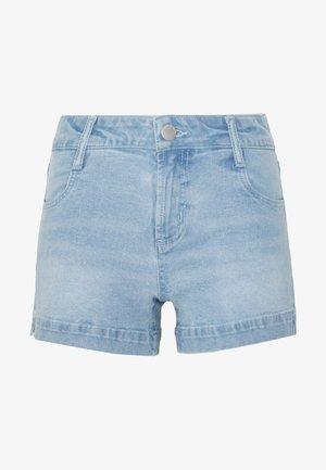 MID RISE CLASSIC STRETCH - Denim shorts - bleach blue