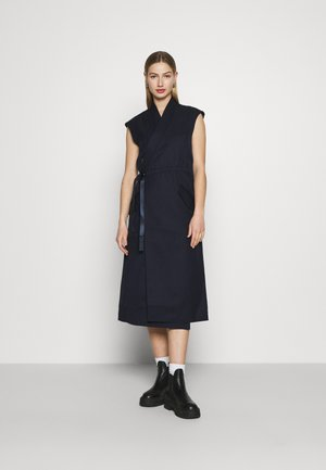 WRAP BELTED DRESS - Kjole - naval blue