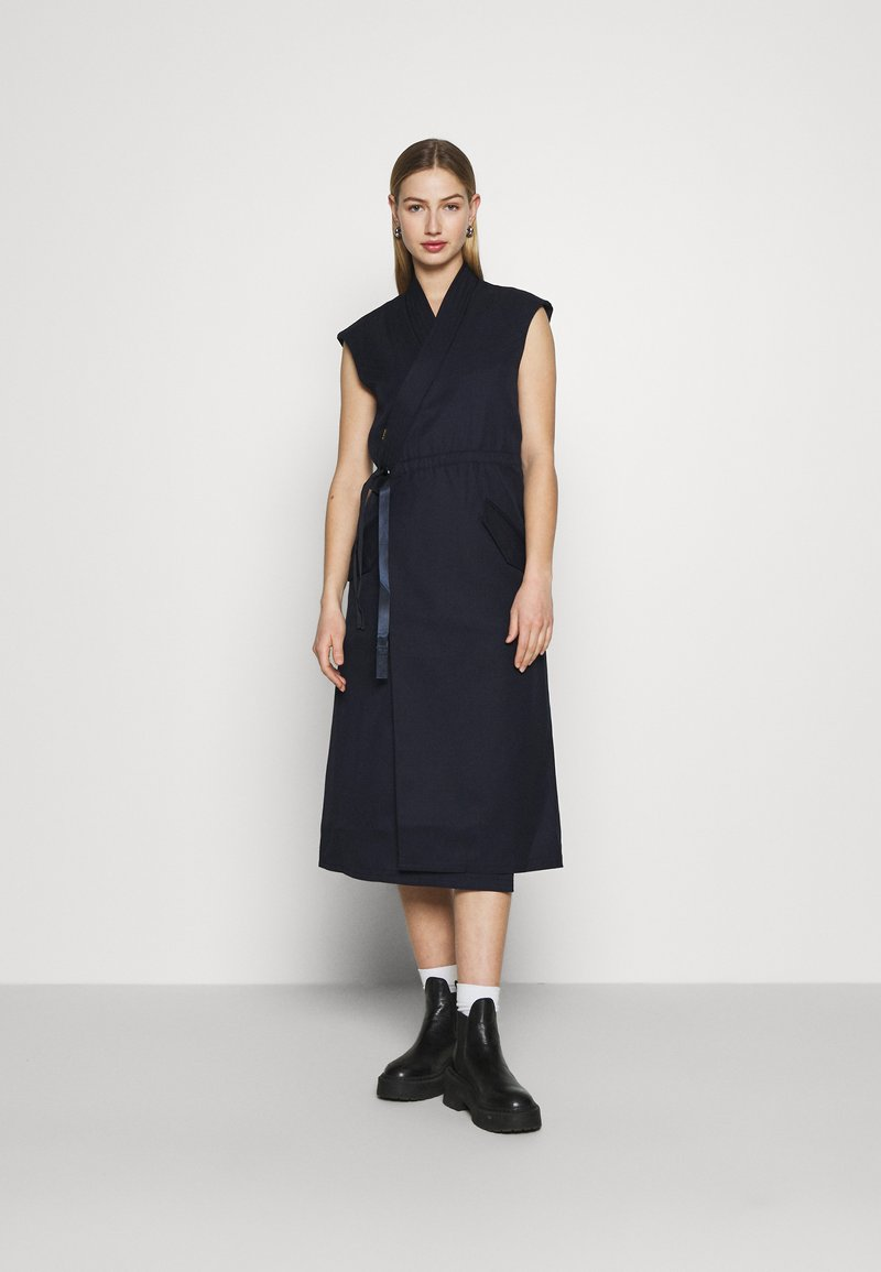 G-Star - WRAP BELTED DRESS - Jurk - naval blue