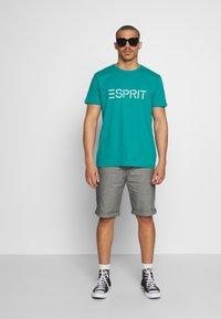 Esprit - LOGO - Print T-shirt - dark turquoise - 1