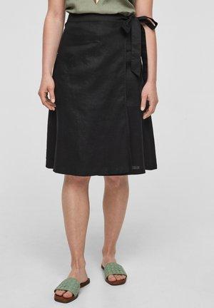 A-line skirt - black melange