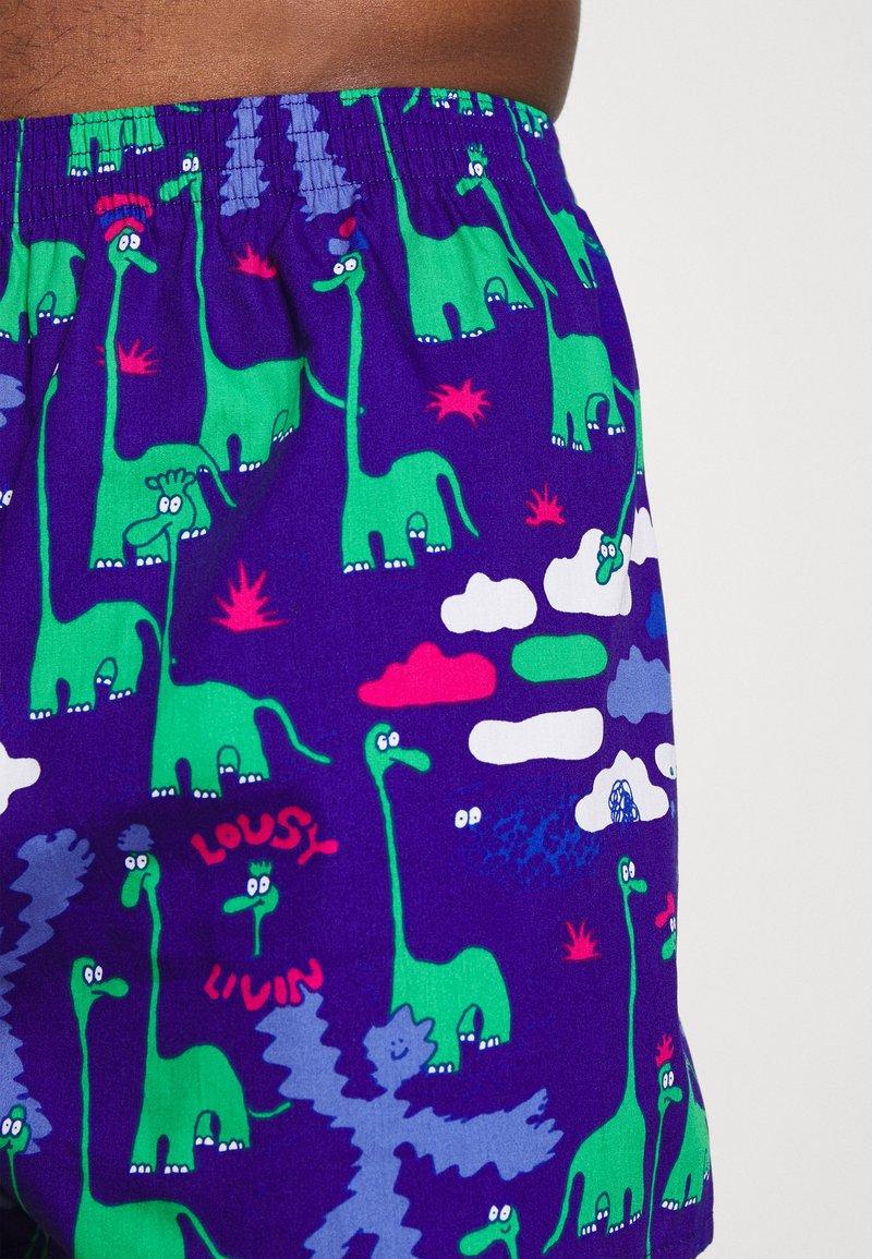 Lousy Livin Underwear - DINOS 2 PACK - Boxer shorts - pink/violett
