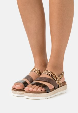Platform sandals - copper