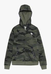 Abercrombie & Fitch - Zip-up hoodie - olive - 0