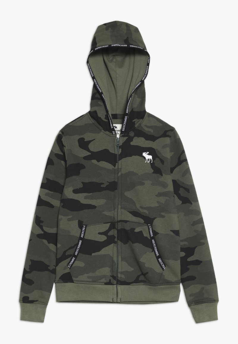 Abercrombie & Fitch - Zip-up hoodie - olive