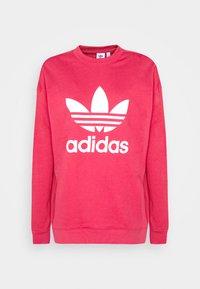 CREW - Sweatshirt - power pink/white