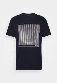 TONAL TEE - Print T-shirt - dark midnight