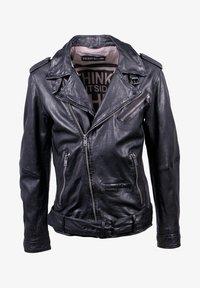 Freaky Nation - HOUSTON CITY - Leather jacket - black - 5