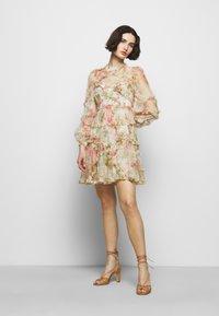 Needle & Thread - HARLEQUIN ROSE RUFFLE MINI DRESS - Koktejlové šaty/ šaty na párty - moonscape - 1