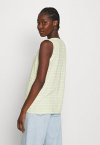 Madewell - WHISPER SHOUT V NECK TANK - Top - faded seagrass/white - 2