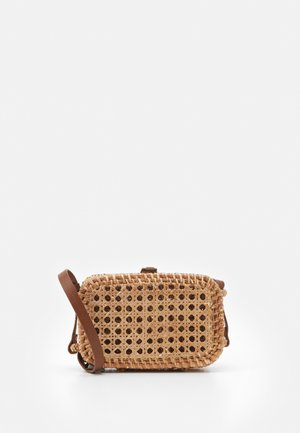 WICKER RECTANGULAR CROSSBODY - Across body bag - natural