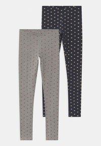 Name it - NKFVIVIAN 2 PACK - Leggings - Trousers - grey melange - 0