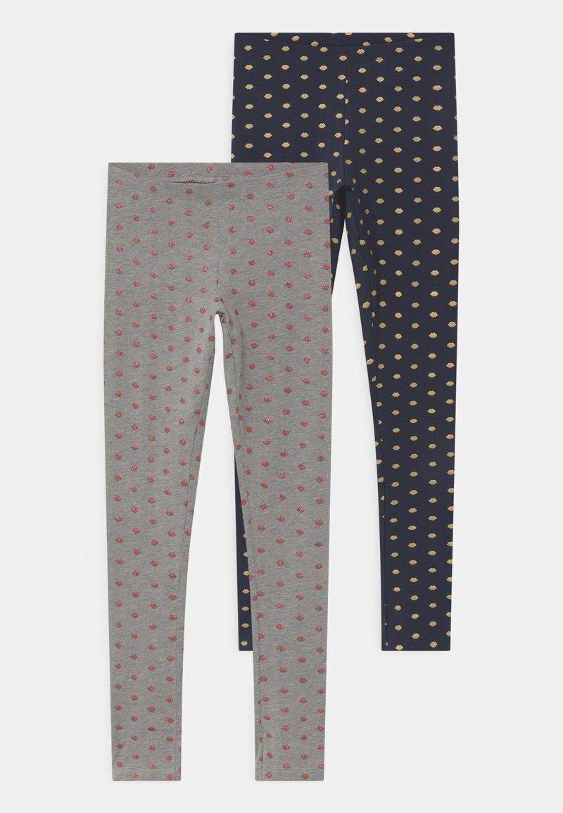 Name it - NKFVIVIAN 2 PACK - Leggings - Trousers - grey melange
