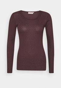 Noa Noa - ESSENTIAL NEW POINTELLE  - Long sleeved top - chocolate plum - 0