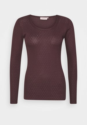 ESSENTIAL NEW POINTELLE  - Langærmede T-shirts - chocolate plum